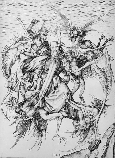 Martin Schongauer Temptation Of St Anthony