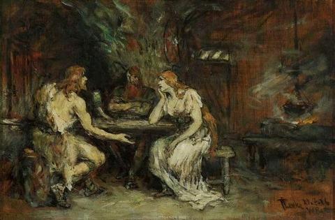 Ferdinand Leeke Siegfried und Brunhilde 1926