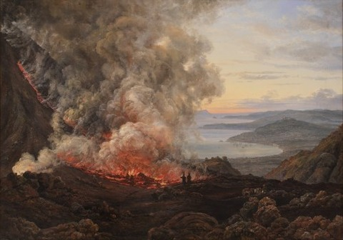 Johan Christian Dahl A Vezúv kitörése 1821