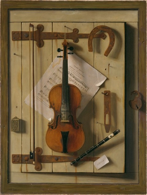 William Michael Harnett Still life Violin and Music 1888