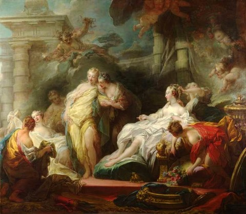 Psyche showing  Sisters  Gifts from Cupid  Jean-Honoré Fragonard