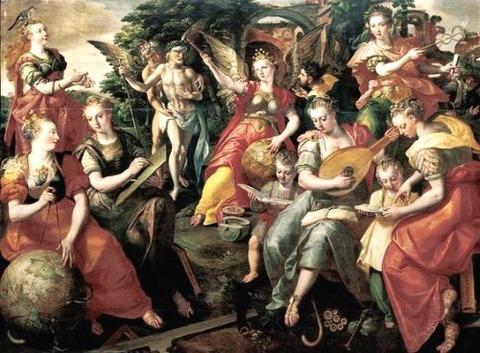 Maarten de Vos - Seven Liberal Arts (1590)