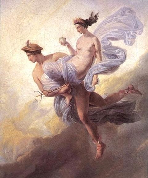 Alaux,_Jean_-_Pandora_carried_off_by_Mercury
