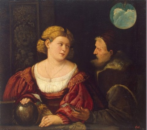 Seduction (Old Man Young Woman)  Cariani (Giovanni Busi)