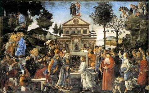 Sandro Botticelli, The Temptations of Christ 1481-82