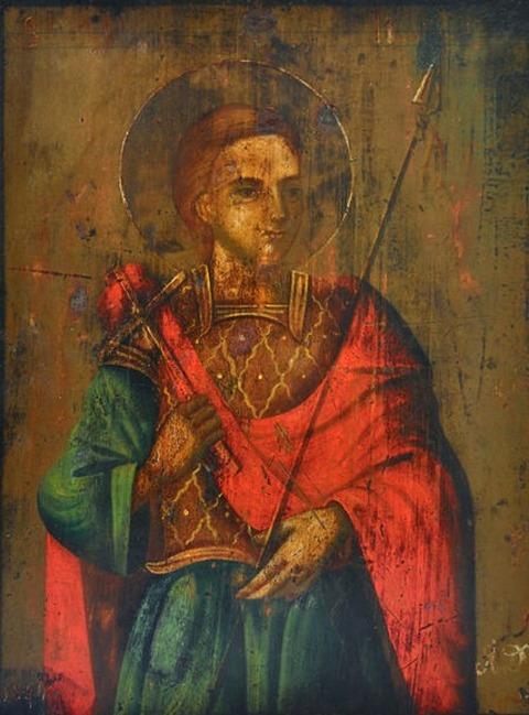 Saint Longinus hand icon 18th