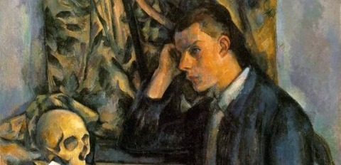 Paul Cézanne - Young Man With a Skull -