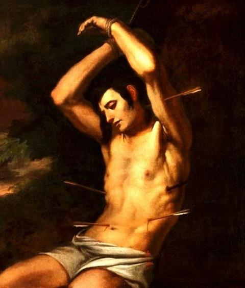 Attributed to Andrea Vaccaro, Saint Sebastian, 17th