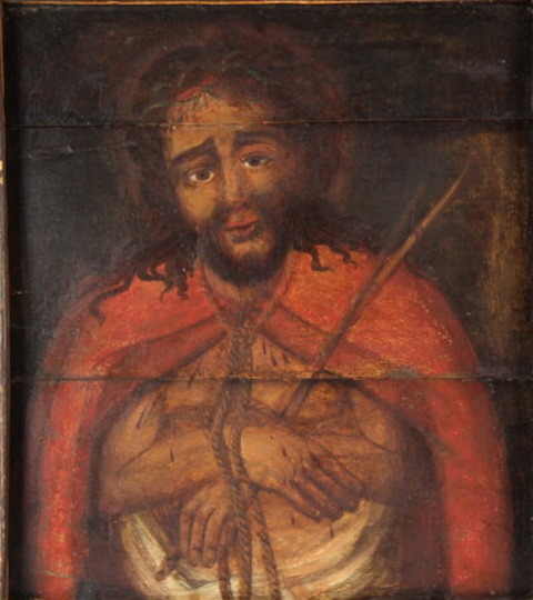 Antique 18th Century Christ Portait