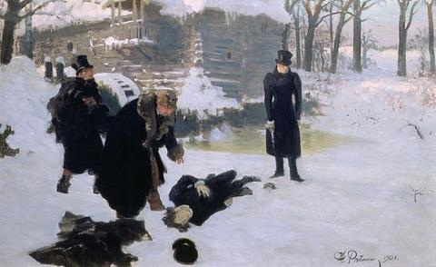 The Duel Ilya Efimovich Repin