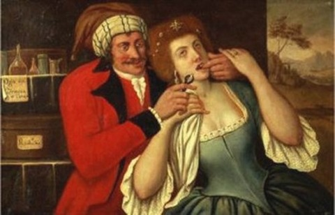 18th Italian Painting Entitled At the Dentist