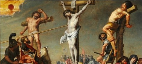 Gerard de la Vallee Longinus piercing Christ's side a spear -