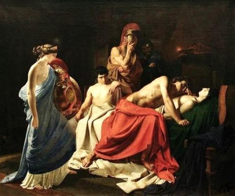 Achilles and the body of Patroclus 1855 Nikolai Ge