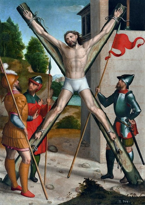 CrucifixionSaint Andrew  Juan Correa de Vivar 1540–45