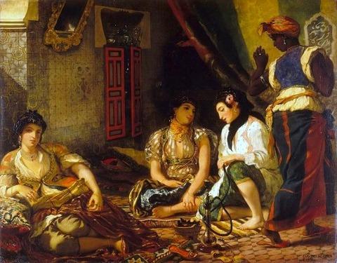 ドラクロワ アルジェの女たち 1834