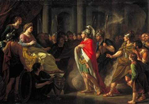 Sir Nathaniel Dance-Holland Dido  Aeneas exhibited 1766