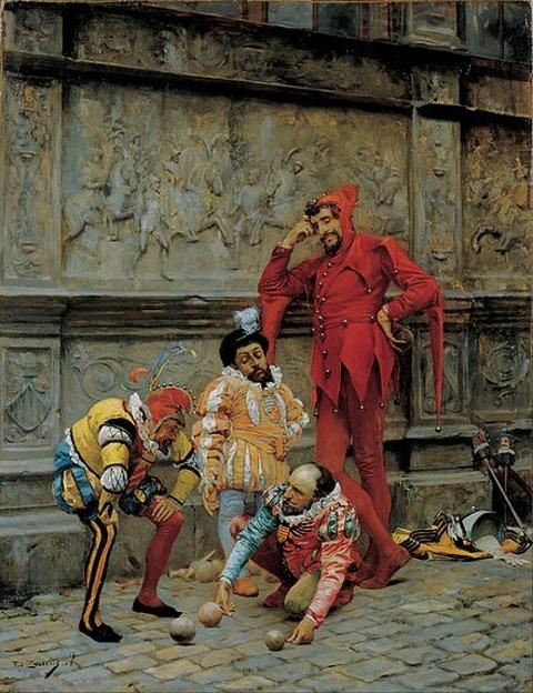 Eduardo Zamacois - Jesters Playing cochonnet