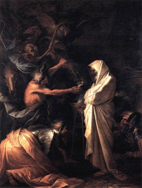 The Shade of Samuel Appears to Saul 1668 - Salvator Rosa
