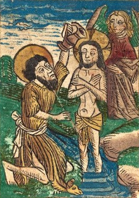 German 15th Century  Baptism   1490
