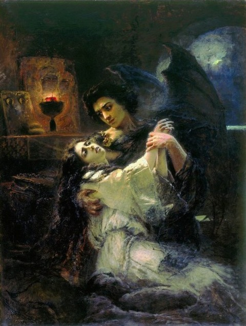 Konstantin Yegorovich Makovsky, Tamara and the Demon, 1889