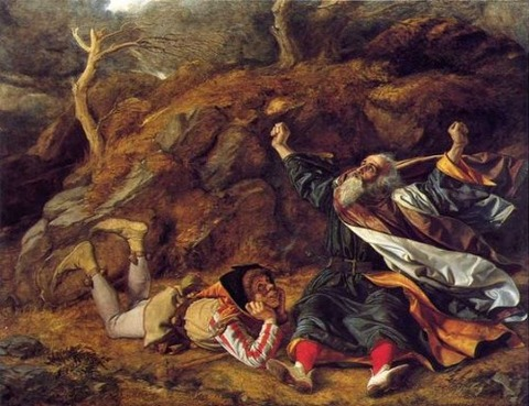 King Lear and the Fool in the Storm, by William Dyce 1851