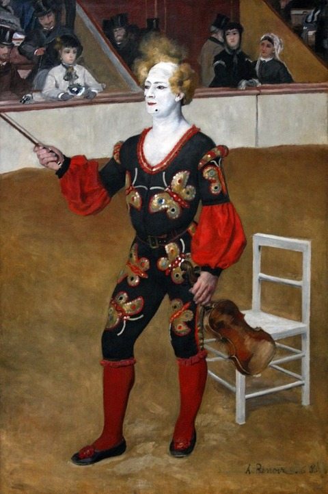 pierre auguste renoir the clown 1868