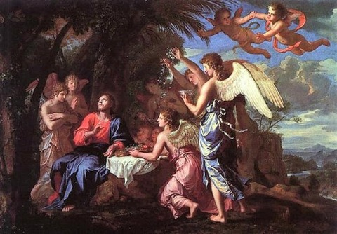Jacques Stella, Christ Ministered To By Angels 1650