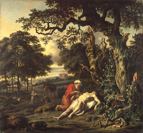 Jan Wijnants - Parable of the Good Samaritan 1670