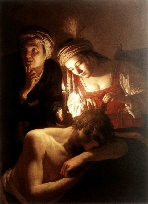 Samson and Delilah  Gerrit van Honthorst