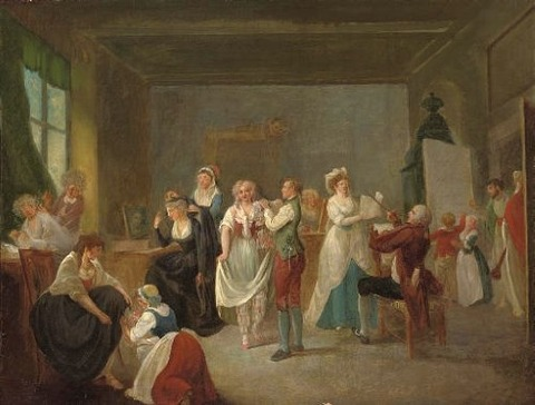 An opera company preparing Austrian School, 18th