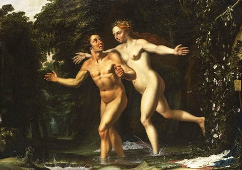 Hermaphroditus And Salmacis by Louis Finson