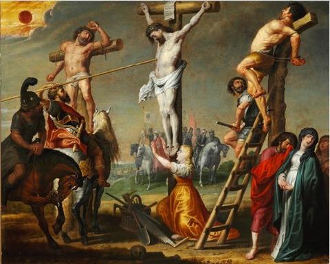 Gerard de la Vallee Longinus piercing Christ's side a spear