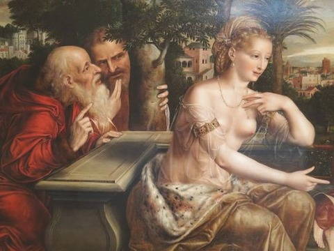 Jan Massys (1509-1575), Susanna and the Elders (1564)