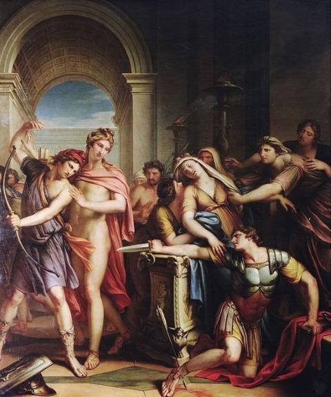 The Death of Achilles 18th Gavin Hamilton 1723-98