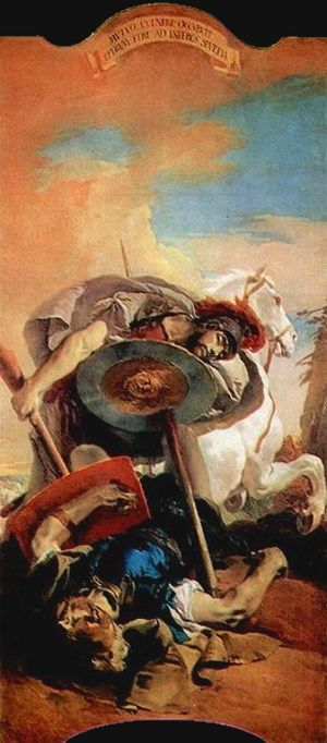 Eteocles and Polynices, Giovanni Battista Tiepolo 1725-30