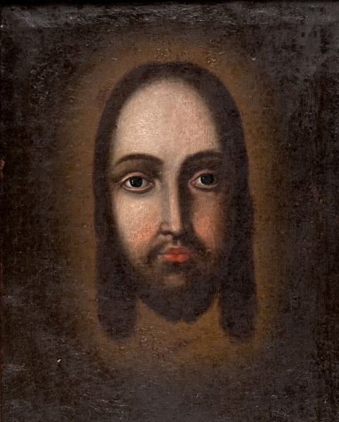 UNKNOWN PAINTER, 17TH CENTURY FACE OF CHRIST
