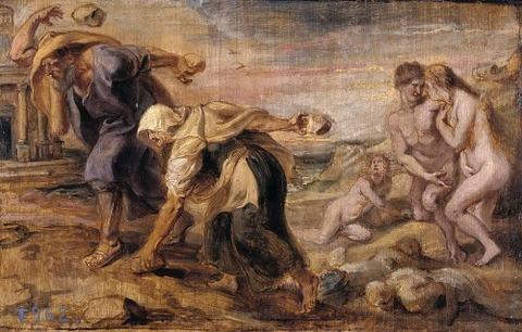 Peter Paul Rubens - Deucalion and Pyrrha, 1636
