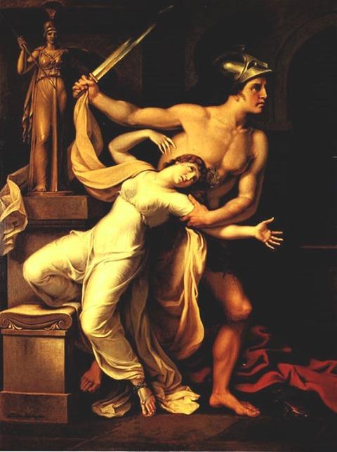 Johann Heinrich Wilhelm Tischbein 1806 Aias und Kassandra