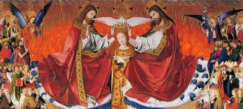 Enguerrand Charonton Coronation of Mary  1454 -