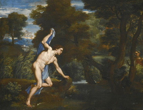 Echo And Narcissus Attributed to Franciscus de Neve