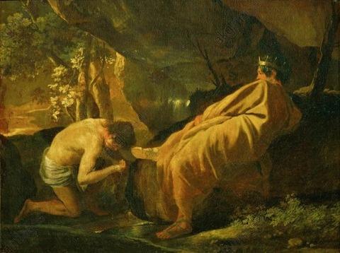 Midas source river Pactolos Poussin Nicolas 1594–1665