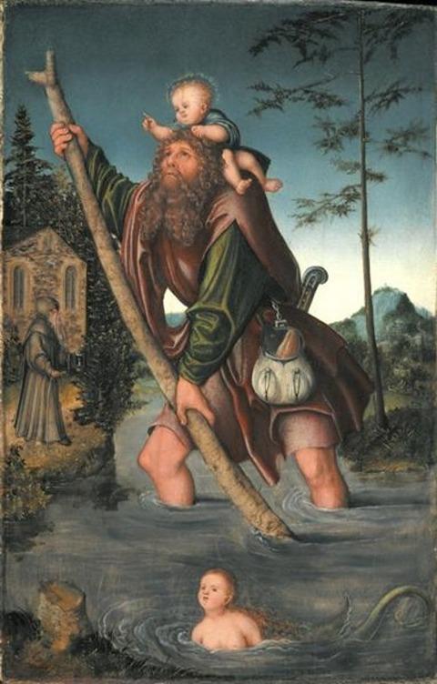 saint-christopher 1516 Lucas Cranach the Elder