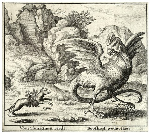 Wenceslas_Hollar_The_basilisk_and_the_weasel 17