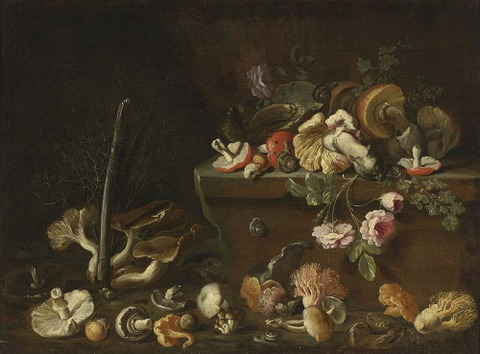 imone del Tintore (Attr.) Mushrooms  Flowers 1708