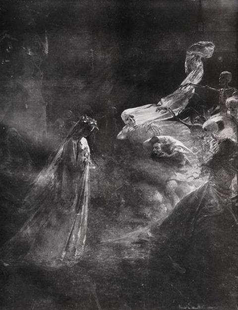 Mihály Zichy - A kísértetek órája (The Ghost Hour), 1880