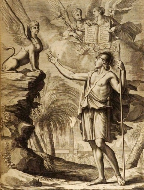 Frontispiece to Volume 1 of Oedipus Aegyptiacus (1652)