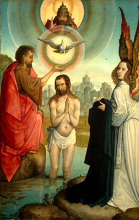 Juan de Flandes   The Baptism of Christ  1508-19