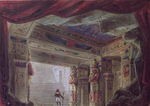 French School Set Design For The Magic Flute