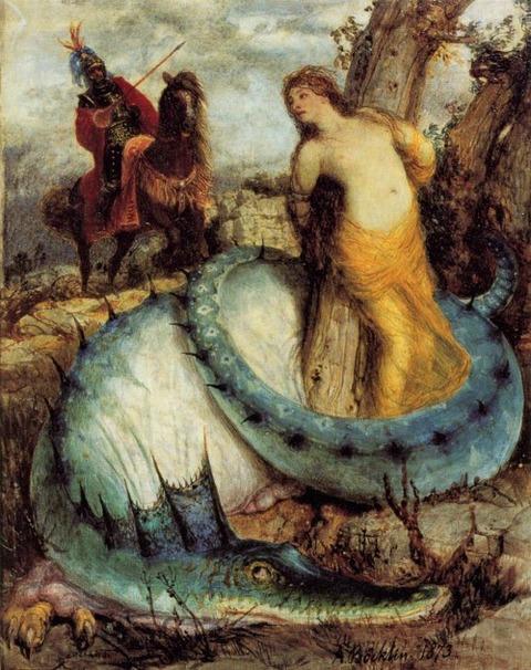 Arnold Böcklin, Ruggero e Angelica, 1871-74