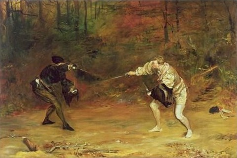 John Pettie Sword and Dagger Fight  Hand Beats Cold Death Aside